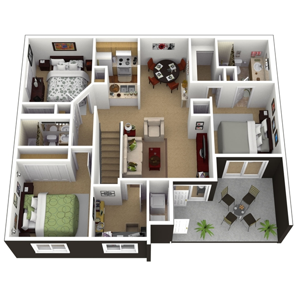 Camden live oaks floorplan view plan 39 3 2 for 10x12 bedroom layout