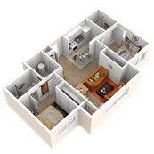 2 Bedrooms with 2 Baths Deluxe