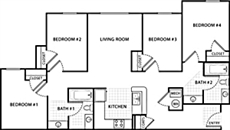 4 Bedroom 2 Bath Handicap-Acce