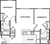 2 Bedroom 2 Bath Handicap-Acce