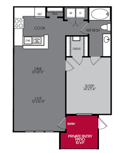 2 Bedroom Apartments in Houston   WestEnd on Eldridge Floor Plans